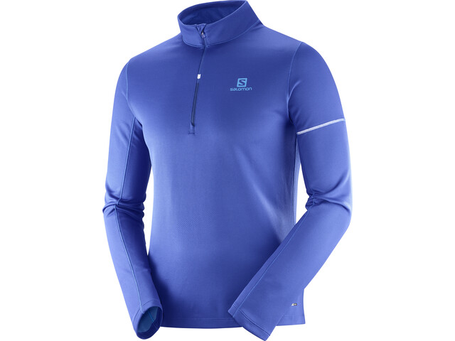 Salomon Agile Running Shirt longsleeve Men blue